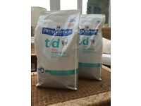 Hills prescription diet cat food x2 5KG bags
