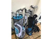 Golf clubs with carry bags x2 sets