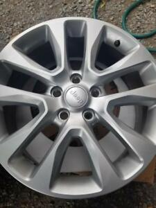 BRAND NEW  TAKE OFF JEEP GRAND CHEROKEE  FACTORY OEM 20 INCH  ALLOY WHEEL SET OF FOUR.  NO SENSORS.