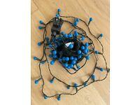 Beautiful blue string lights - 15 meters