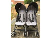 Chicco Echo Twin Stroller Black - Double Buggy