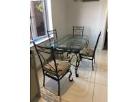 Lovely ornate Dinning Table /Chairs