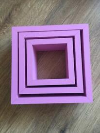 Next pink block shelf's