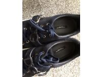 Genuine Dolce and Gabbana D&G sneakers trainers suede navy size 9. only worn 2-3 times since new.