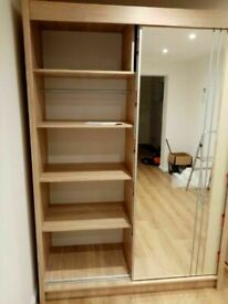 💥💯INTRODUCTION OFFER 2 AND 3 MIRRORED DOORS SLIDING WARDROBES WITH SHELVES, RAILS