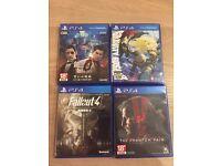 4 ps4 games (MGS5, Fallout4, yakuza0, Gravity rush2) for £49
