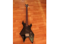 BC Rich Warlock Bass Guitar [WIDOW HEADSTOCK] inc Warwick Rockbag carrycase