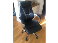 Leather Faced Executive Chair, Black