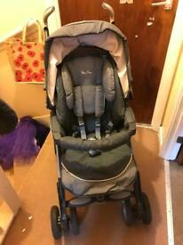Silver cross pram/pushchair and car seat