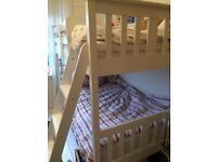 White, bunk beds