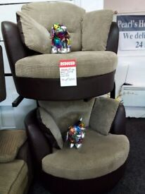 Dfs jumbo swivel cuddles chair set