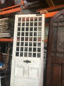 Large old period glass panel door