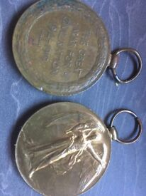 Two 1st world war medals , not required by family anymore