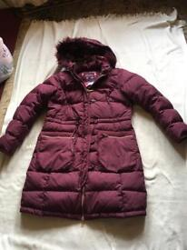 Per una ladies puffy coat wine size 12/M hoodies full Zipper used £8