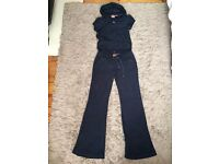 Juicy Couture navy terry towelling top and bottoms - size Large