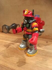 VGC RARE 1999 Fisher Price Mattel talking BILLY BLAZES Rescue Heroes action figure. 6 inch tall