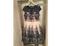 Chi Chi London Dress. Size 18. Navy&Ivory Lace