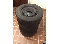 Winter tires: Falken Eurowinter HS449 205/55R16 91T on steel wheels x4 6-7mm tread **M+S rated**
