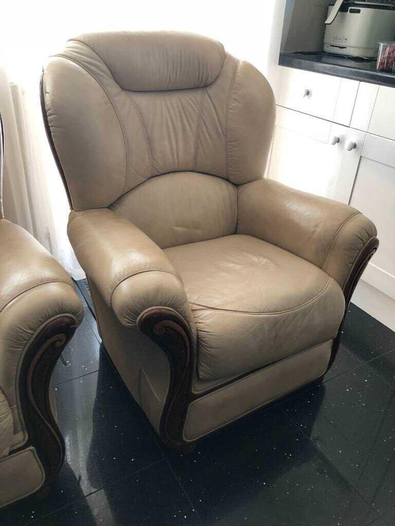 2 single leather sofas