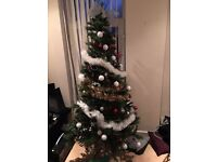 Christmas tree with berries and cones!NEED GONE ASAP-AS MOVING