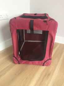 Fabric Portable DOG or CAT CRATE/PUPPY KENNEL/MOBILE PET BED