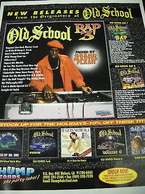 RAP HIP HOP 1996 Promo Ad OLD SCHOOL Grand Master Flash