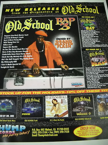 RAP HIP HOP 1996 Promo Poster Ad OLD SCHOOL Grand Master Flash