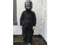 Motor Cycle Jacket and Trousers for Child Age Range 9-12