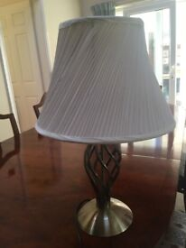 Lamp Brass Effect with Cream Shade