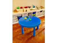 Ikea children's play table.