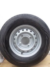 Indespension Trailer wheel and tyre- brand new and unused -