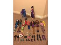 Monster high/Descendant dolls with accessories (excellent condition)