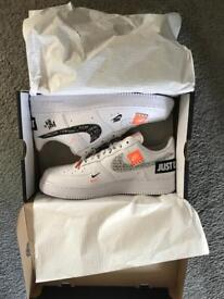 Nike Air Force 1 ltd edition 'Just Do It' pack UK 10.5