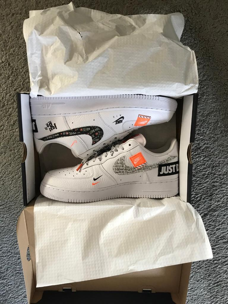 cbf34847597fa Nike Air Force 1 ltd edition  Just Do It  pack UK 10.5
