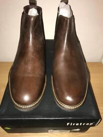 Brown leather Fire Trap Chelsea boots Size UK 10 (men's)
