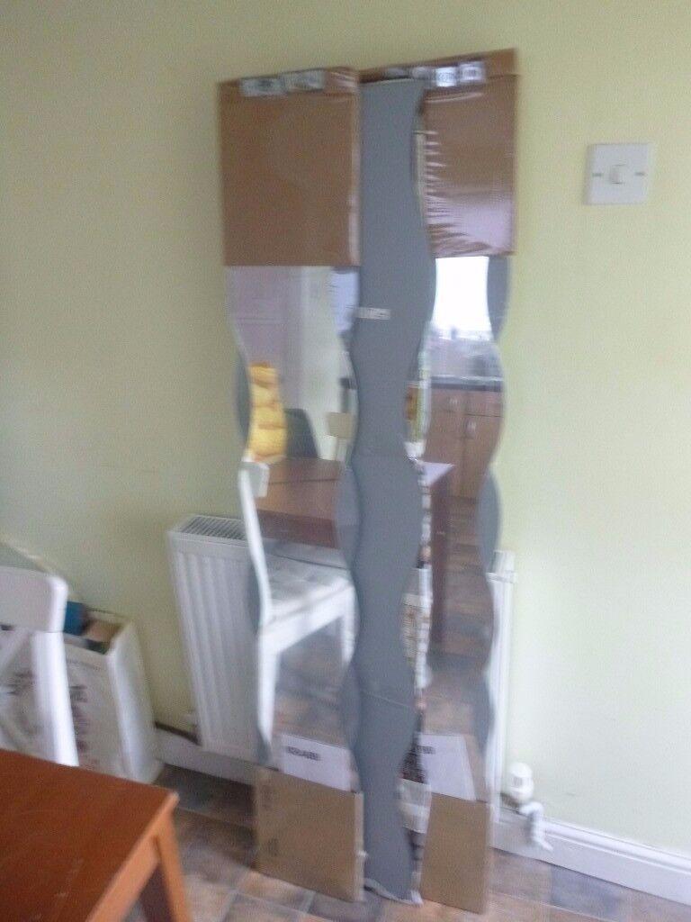 Set Of 6 Krabb Ikea Wavy Mirrors In Netherfield