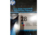 Two sealed HP cartridges 28 & 57