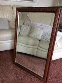 Mirror- large with solid wood frame