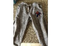 Boys spider man joggers age 4-5
