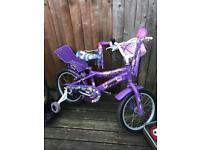 Girls size 16 purple bike iso8098