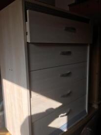 Five drawer unit