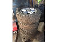 """Land rover td5 18"""" alloy & off road tyres"""