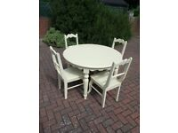Attractive Dining Table and Four Matching Chairs