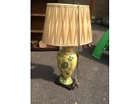 Large yellow table lamp