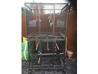Parrot cage double large