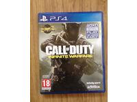 PS4 Call Of Duty Infinite Warfare like new