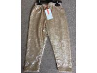 Brand new John Lewis girl sequin trousers 3-4 years