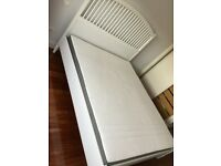 Ikea Kingsize White Wooden Frame plus Mattress