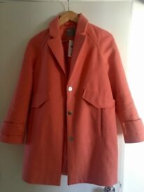 Pink/Coral ASOS ladies coat. Size 10 petite range. Brand new with tags!