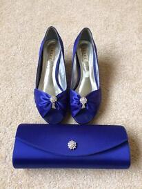 Blue Shoes and Bag Set